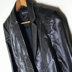 🆕 Genuine Leather Blazer Jacket